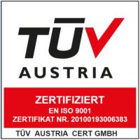 TÜV Austria Zertifikat ISO 9001:2015